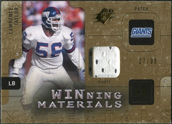 2009 Upper Deck SPx Winning Materials Patch #WLT Lawrence Taylor /99