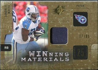 2009 Upper Deck SPx Winning Materials Patch #WLW LenDale White /99