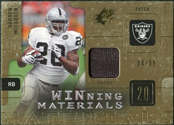 2009 Upper Deck SPx Winning Materials Patch #WMC Darren McFadden /99