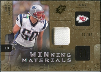 2009 Upper Deck SPx Winning Materials Patch #WMV Mike Vrabel /99
