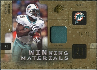 2009 Upper Deck SPx Winning Materials Patch #WRB Ronnie Brown /99