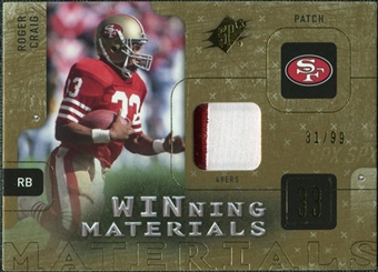 2009 Upper Deck SPx Winning Materials Patch #WRC Roger Craig /99