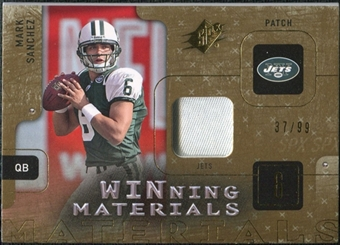 2009 Upper Deck SPx Winning Materials Patch #WSA Mark Sanchez /99