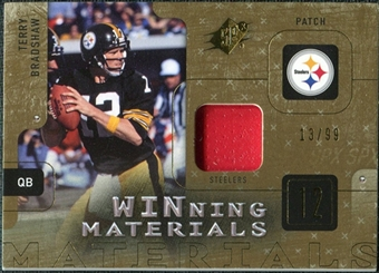 2009 Upper Deck SPx Winning Materials Patch #WTB Terry Bradshaw 13/99