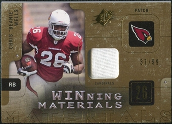 2009 Upper Deck SPx Winning Materials Patch #WWE Chris Wells /99