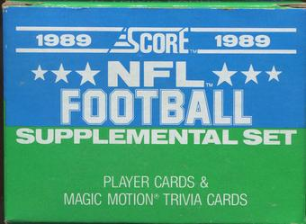 1989 Score Supplemental Football Factory Set
