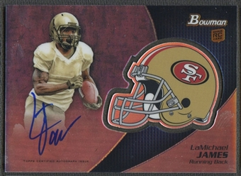 2012 Bowman #BCRALJ LaMichael James Rookie Team Helmet Auto
