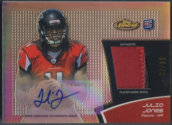 2011 Finest #RAPJJ Julio Jones Rookie Refractor Patch Auto #66/99