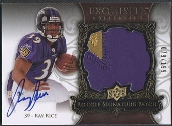 2008 Exquisite Collection #162 Ray Rice Rookie Patch Auto #079/199