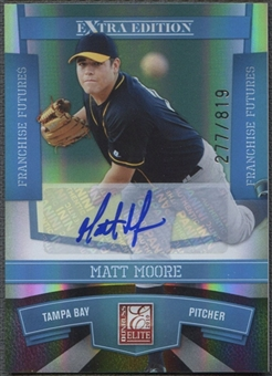 2010 Donruss Elite Extra Edition #15 Matt Moore Franchise Futures Signatures Auto #277/819