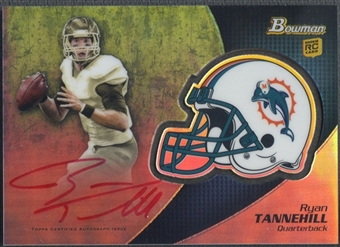 2012 Bowman #BCRART Ryan Tannehill Rookie Team Helmet Red Ink Auto