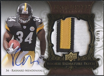 2008 Exquisite Collection #171 Rashard Mendenhall Rookie Patch Auto #94/99