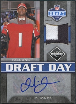 2011 Limited #4 Julio Jones Draft Day Patch Auto #07/15