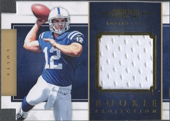 2012 Panini Prominence #24 Andrew Luck Rookie Projection Materials Jersey #071/299