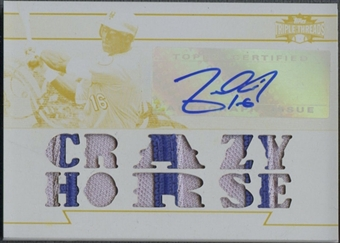 2011 Topps Triple Threads #TTAR88 Angel Pagan White Whale Printing Plate Patch Auto #1/1