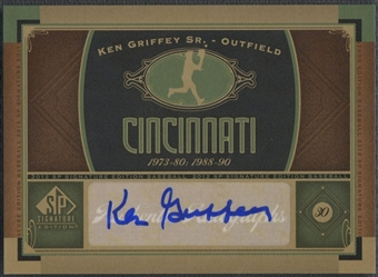 2012 SP Signature #CIN2 Ken Griffey Sr. Signatures Auto