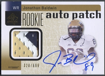2011 SP Authentic #224 Jonathan Baldwin Rookie Patch Auto #320/699