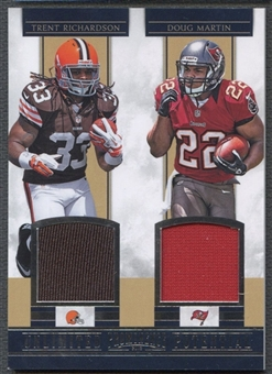 2012 Panini Prominence #8 Trent Richardson & Doug Martin Unlimited Potential Materials Combos Jersey #033/249