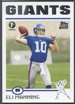 2004 Topps First Edition #350 Eli Manning Rookie