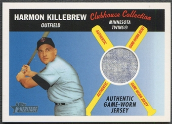 2004 Topps Heritage #HK Harmon Killebrew Clubhouse Collection Relics Jersey