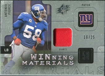 2009 Upper Deck SPx Winning Materials Patch Platinum #WAP Antonio Pierce /25