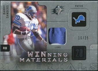 2009 Upper Deck SPx Winning Materials Patch Platinum #WBS Barry Sanders 16/25
