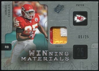 2009 Upper Deck SPx Winning Materials Patch Platinum #WCH Jamaal Charles 9/25