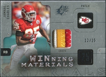2009 Upper Deck SPx Winning Materials Patch Platinum #WCH Jamaal Charles /25