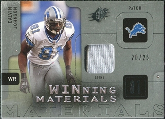 2009 Upper Deck SPx Winning Materials Patch Platinum #WCJ Calvin Johnson /25