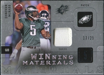 2009 Upper Deck SPx Winning Materials Patch Platinum #WDM Donovan McNabb /25