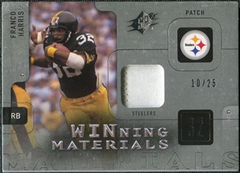 2009 Upper Deck SPx Winning Materials Patch Platinum #WFH Franco Harris /25