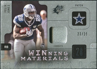 2009 Upper Deck SPx Winning Materials Patch Platinum #WFJ Felix Jones /25