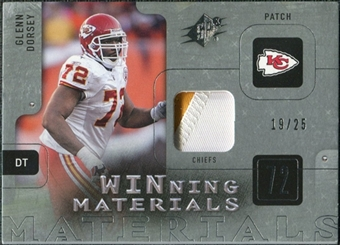 2009 Upper Deck SPx Winning Materials Patch Platinum #WGD Glenn Dorsey /25