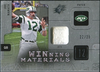 2009 Upper Deck SPx Winning Materials Patch Platinum #WJN Joe Namath /25