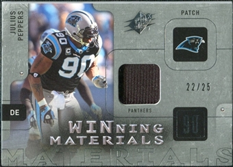 2009 Upper Deck SPx Winning Materials Patch Platinum #WJP Julius Peppers /25