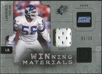 2009 Upper Deck SPx Winning Materials Patch Platinum #WLT Lawrence Taylor /25