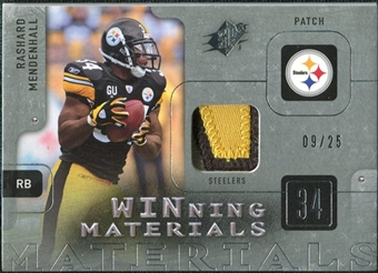 2009 Upper Deck SPx Winning Materials Patch Platinum #WME Rashard Mendenhall /25