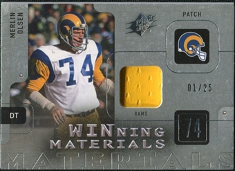 2009 Upper Deck SPx Winning Materials Patch Platinum #WMO Merlin Olsen /25