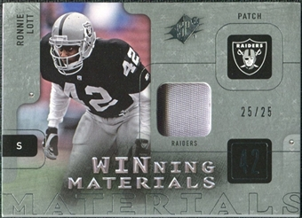 2009 Upper Deck SPx Winning Materials Patch Platinum #WRL Ronnie Lott 25/25