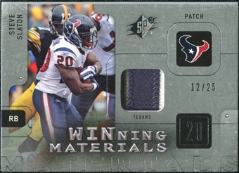2009 Upper Deck SPx Winning Materials Patch Platinum #WSS Steve Slaton /25
