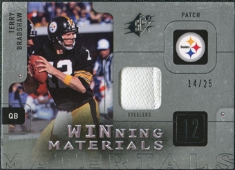 2009 Upper Deck SPx Winning Materials Patch Platinum #WTB Terry Bradshaw 14/25