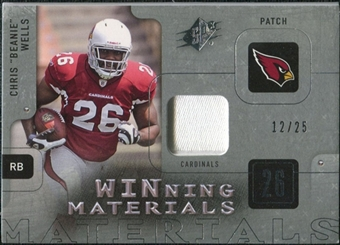 2009 Upper Deck SPx Winning Materials Patch Platinum #WWE Chris Wells /25