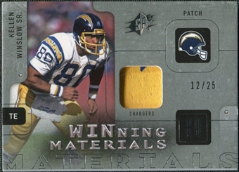2009 Upper Deck SPx Winning Materials Patch Platinum #WWI Kellen Winslow Sr. /25