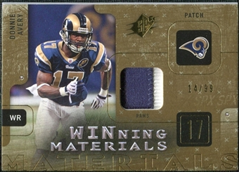 2009 Upper Deck SPx Winning Materials Patch #WAV Donnie Avery /99