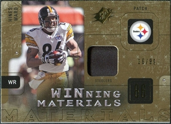 2009 Upper Deck SPx Winning Materials Patch #WHW Hines Ward /99