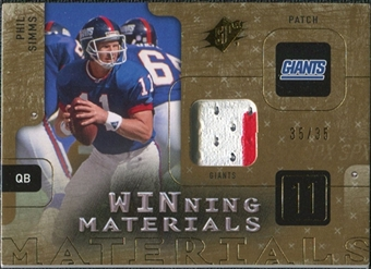 2009 Upper Deck SPx Winning Materials Patch #WPS Phil Simms /35
