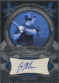 2004 Upper Deck Etchings #MA Joe Mauer Etched in Time Blue Auto #211/250