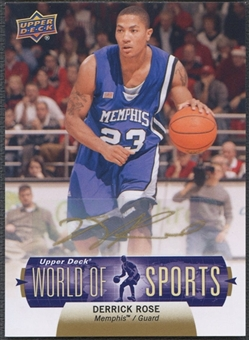 2011 Upper Deck World of Sports #312 Derrick Rose Auto
