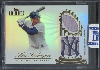2012 Topps Tribute #AR Alex Rodriguez Championship Material Dual Relic Jersey #66/99