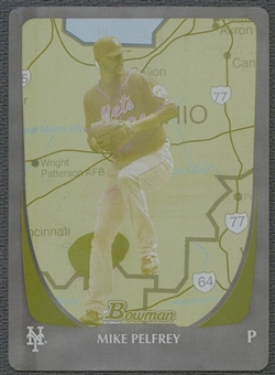 2011 Bowman #24 Mike Pelfrey International Printing Plate Yellow #1/1